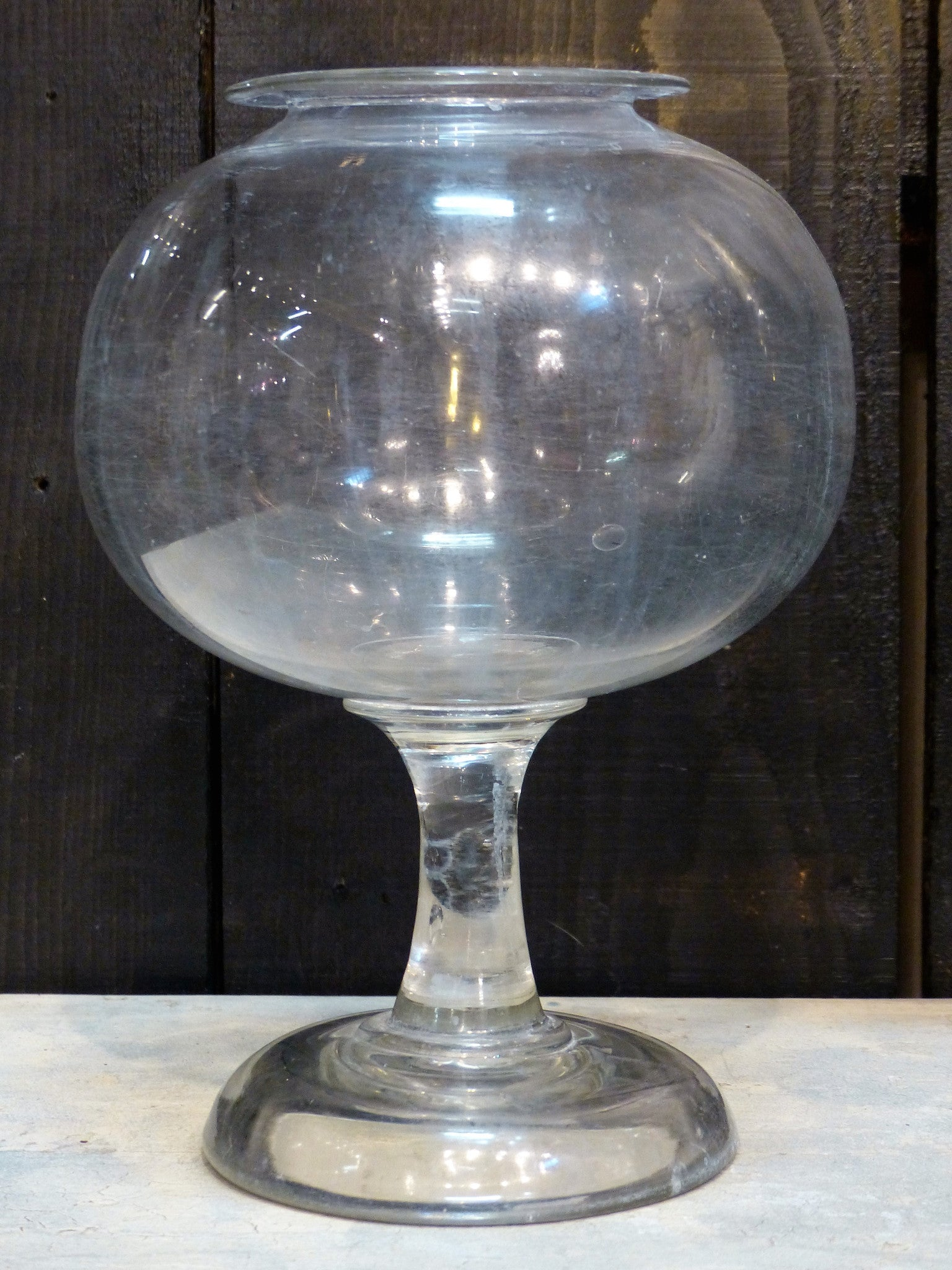 19th century French apothecary jar glass