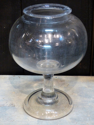 19th century French apothecary jar glassware
