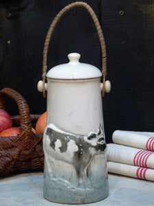 French barbotine pot a lait