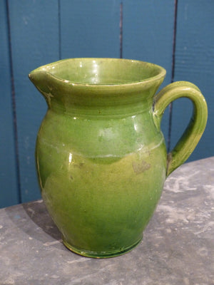 Green vintage pitcher