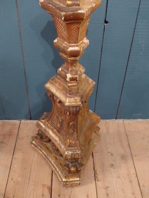 Large French candlestick from church giltwood French décor