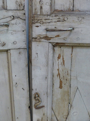 Pair of late 18th century rustic shutters with original patina