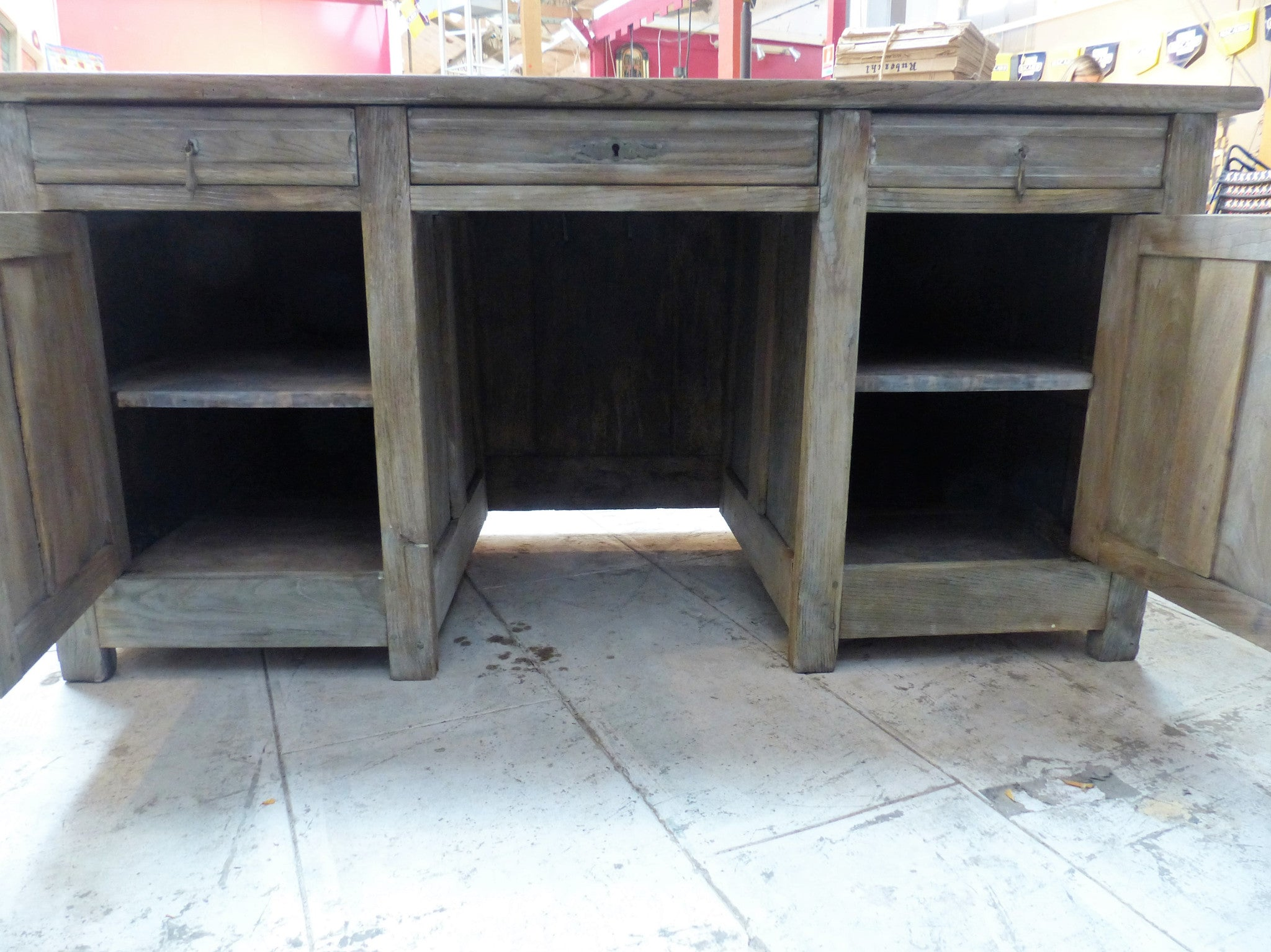 Rustic 17th century French oak desk