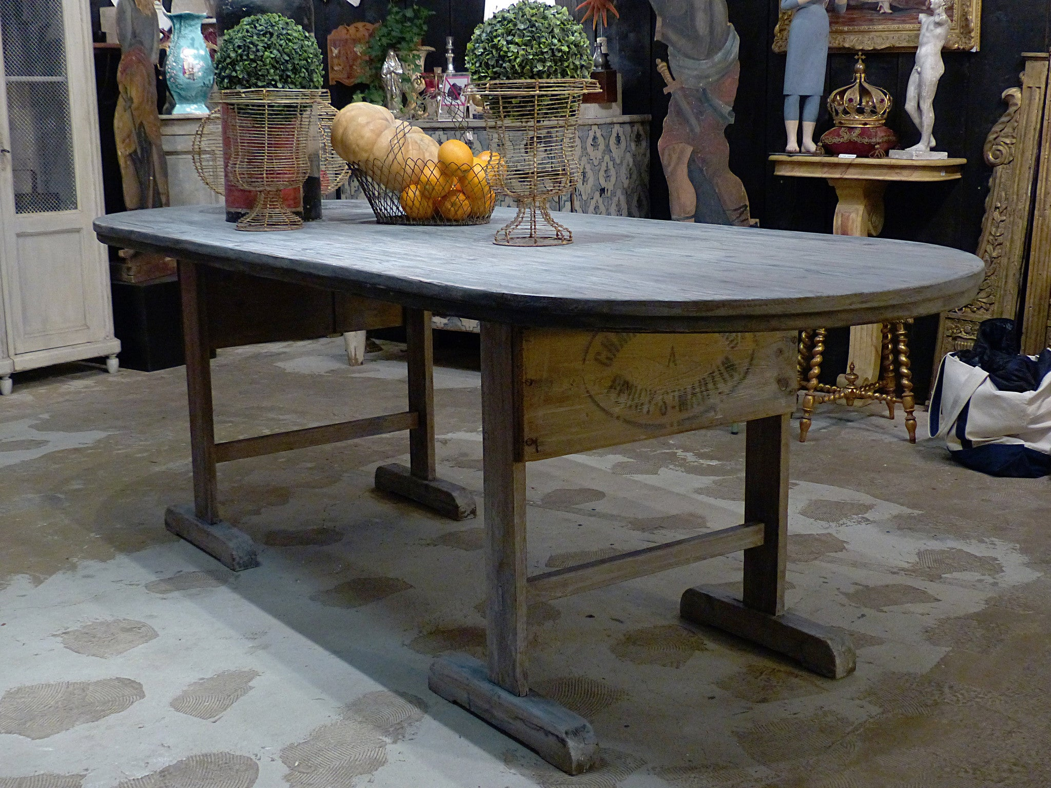 Large rustic farm table from Beaujolais