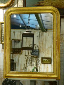 Louis Philippe mirror with original gold leaf frame