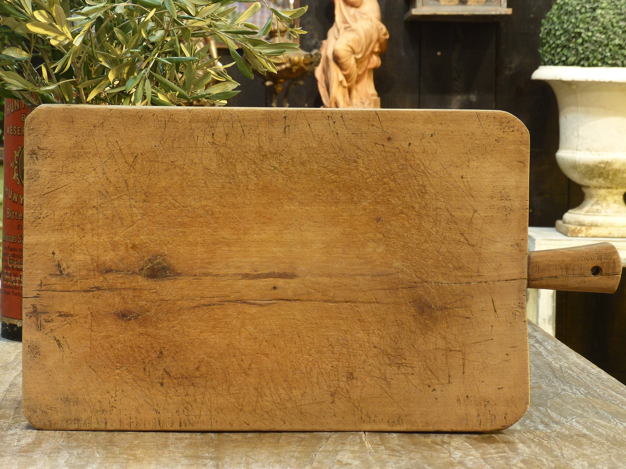 Extra-large rustic French cutting board – 1920's