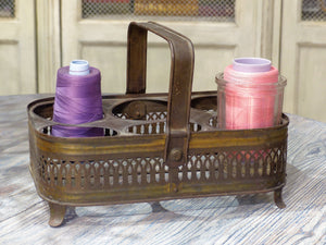 Antique French glass carrier