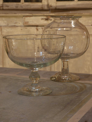 19th century French apothecary glass cup
