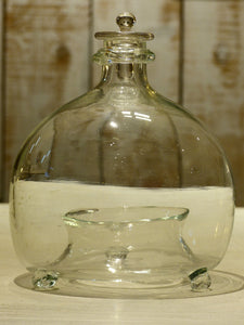 French hand blown glass container to trap wasps - 19th century