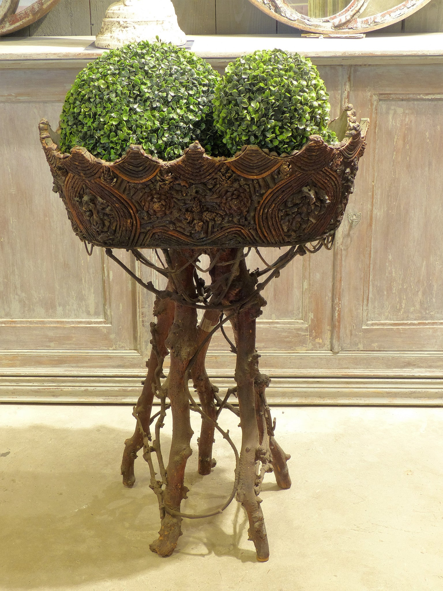 French Black forest planter - 19th century