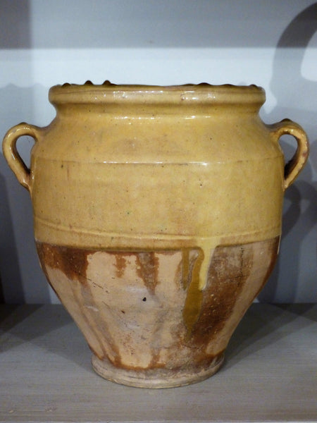 19th Century Yellow Confit Pot - 23cm