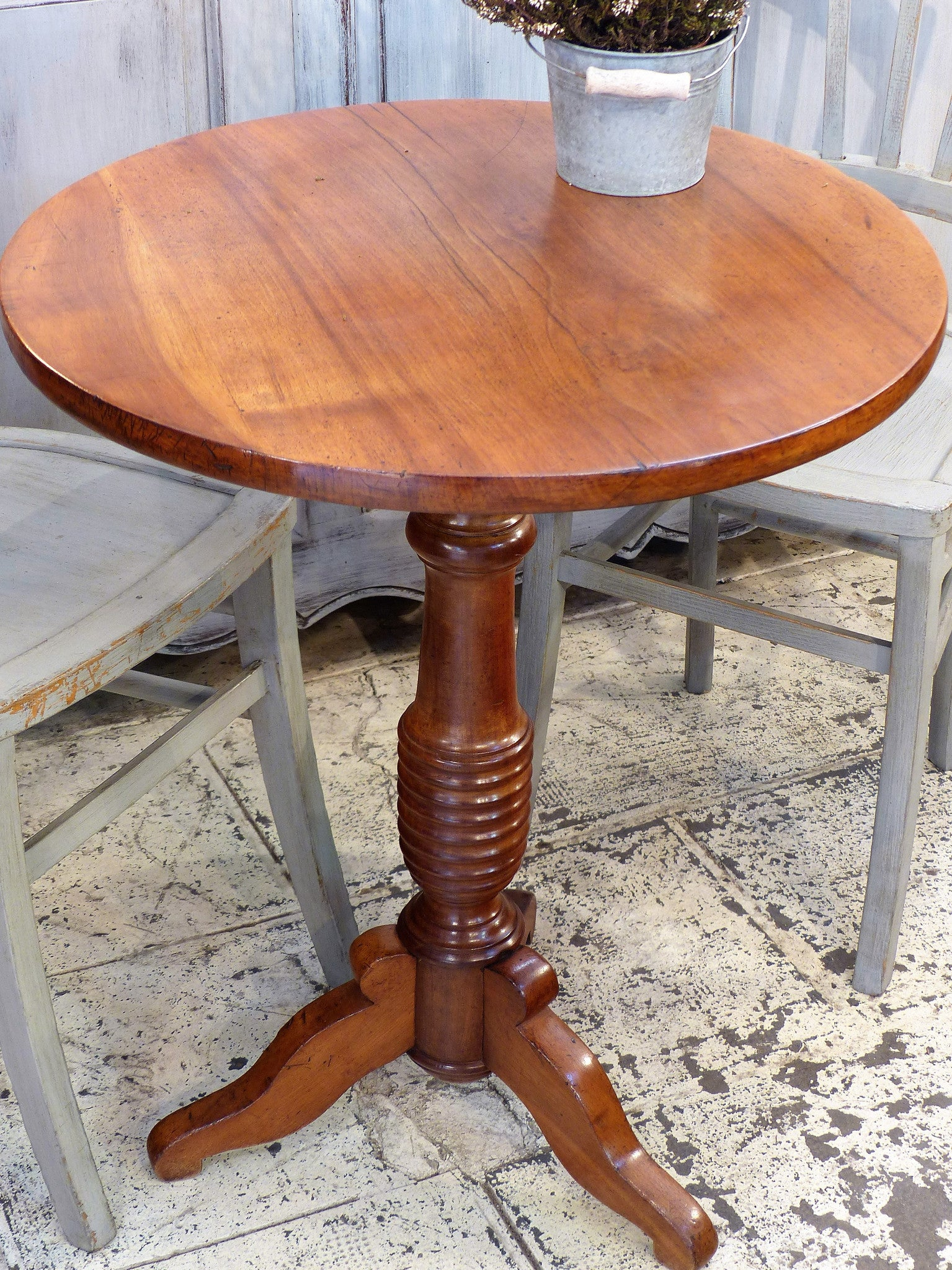 Round Louis Philippe side table