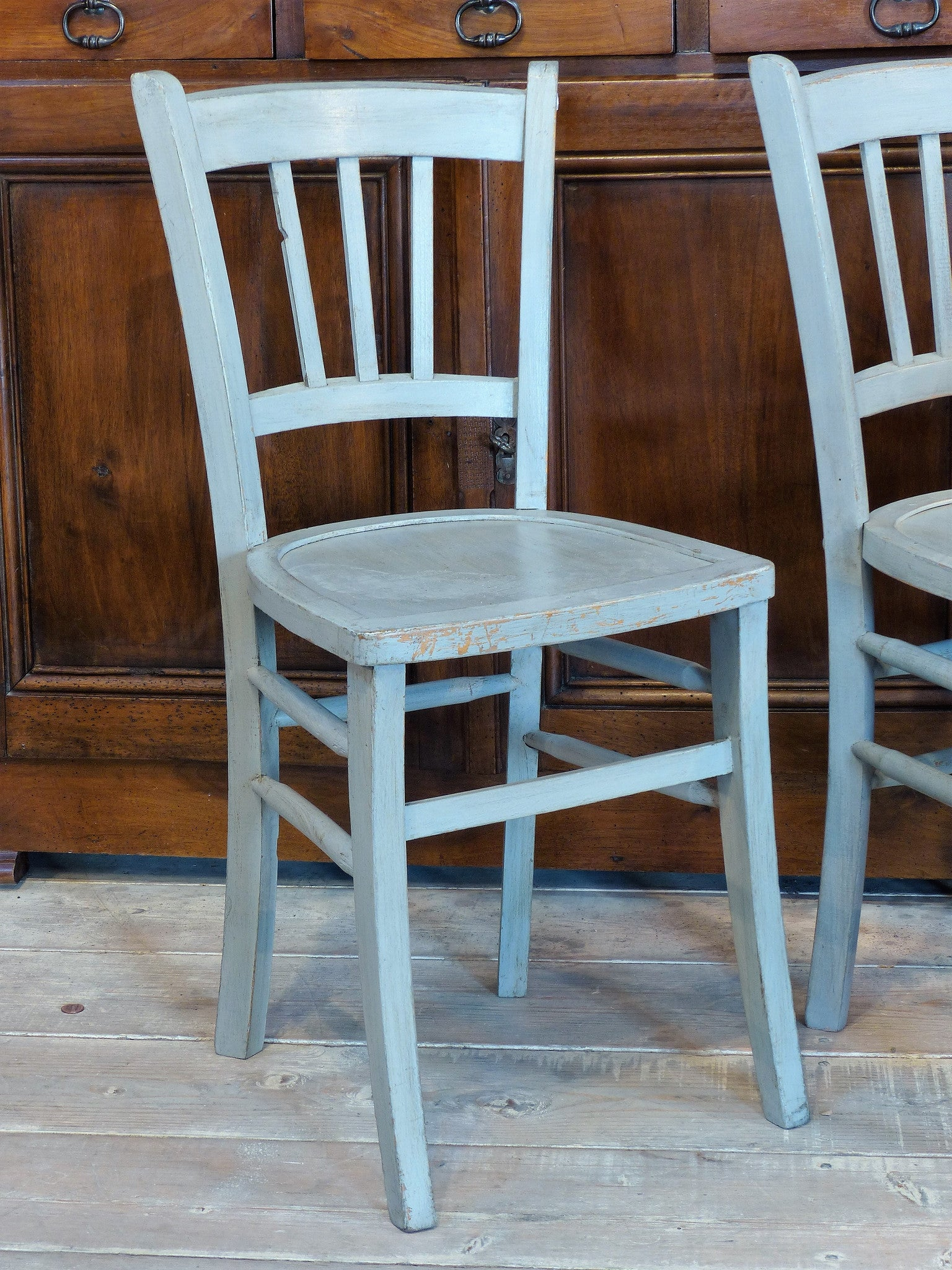 Pair of 1950's French 'Luterma' bistro chairs