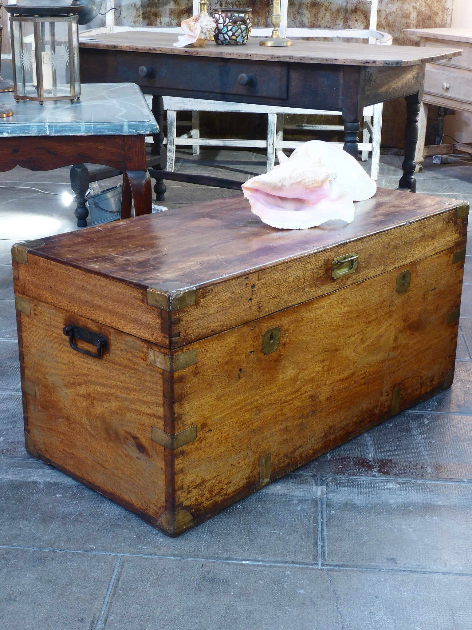 French storage trunk - 19th century