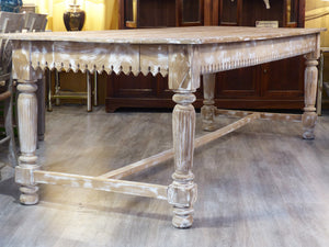 Extra-large French butcher's table – 19th century
