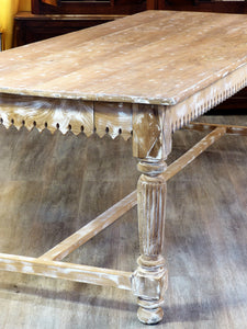 Extra-large French butcher's table - 19th century