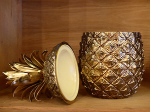 Gold Italian pineapple ice bucket by Mauro Manetti