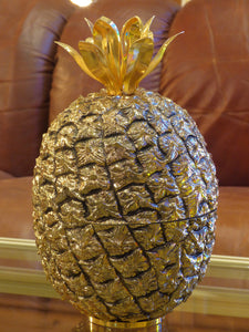 Warm gold French pineapple ice bucket - Michel Dartois 1970's