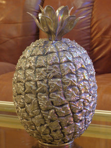 Silver French pineapple ice bucket by Michel Dartois 1970's