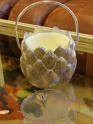 Silver Swiss artichoke ice bucket by Freddo Therm 1970's