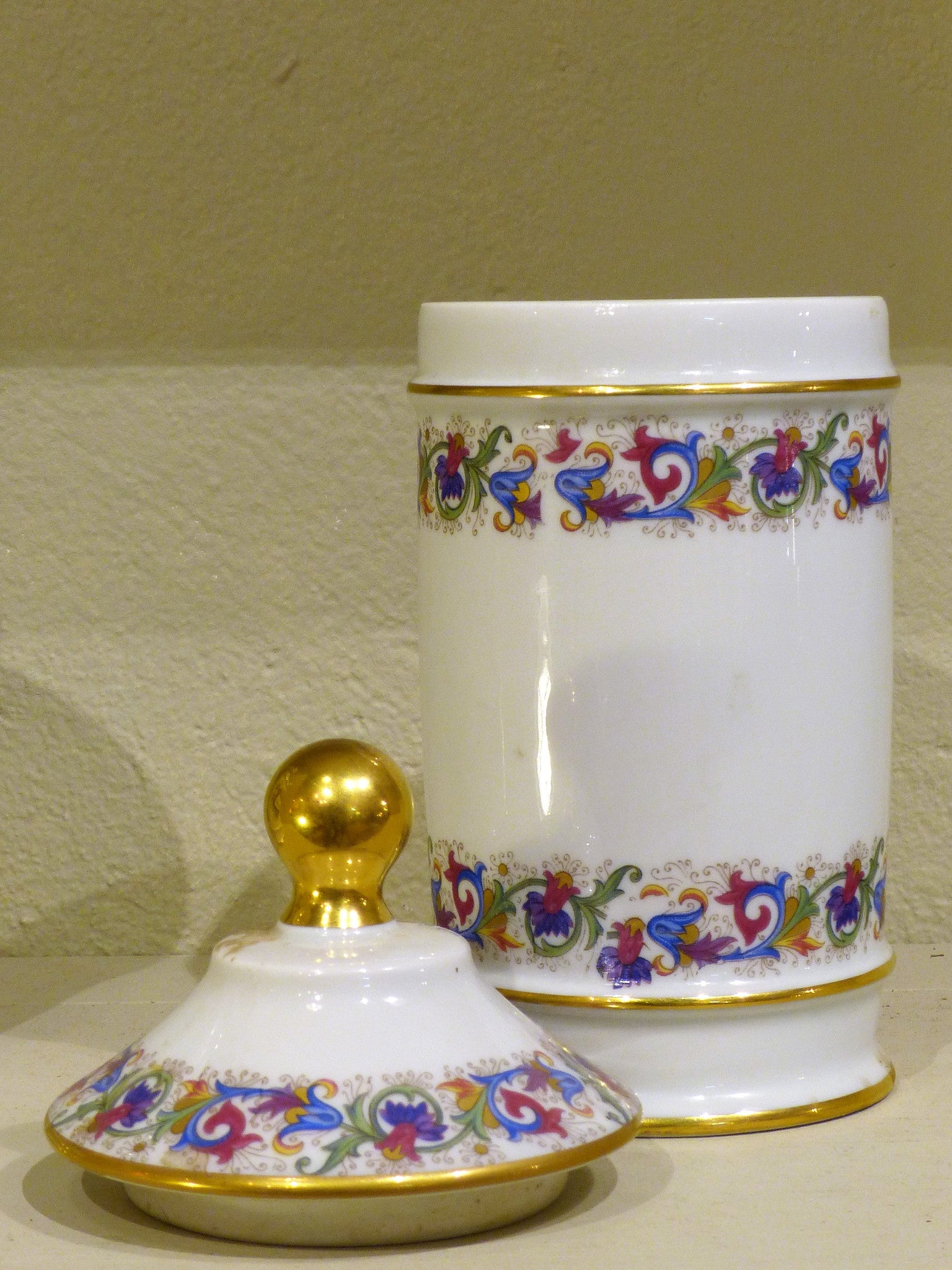 Limoges porcelain apothecary jar