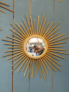 Small Chaty Vallauris sunburst mirror with convex glass