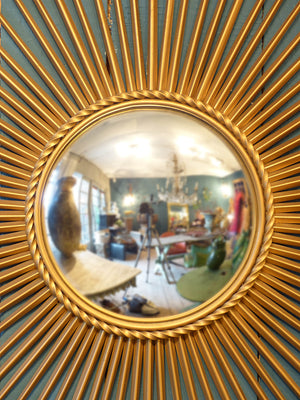 Large Chaty Vallauris mirror with convex glass