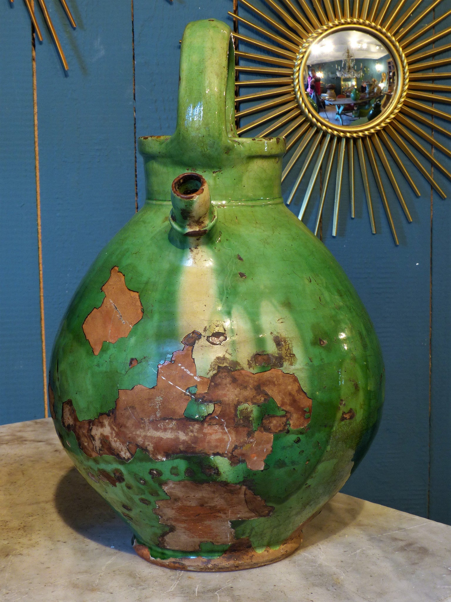 Large French Provincial water jug - late 19th century
