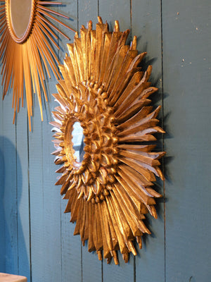 Italian carved sunburst mirror