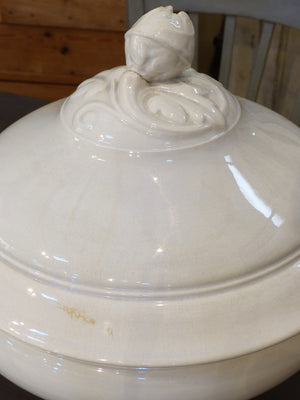 Late 19th century French soup tureen - white