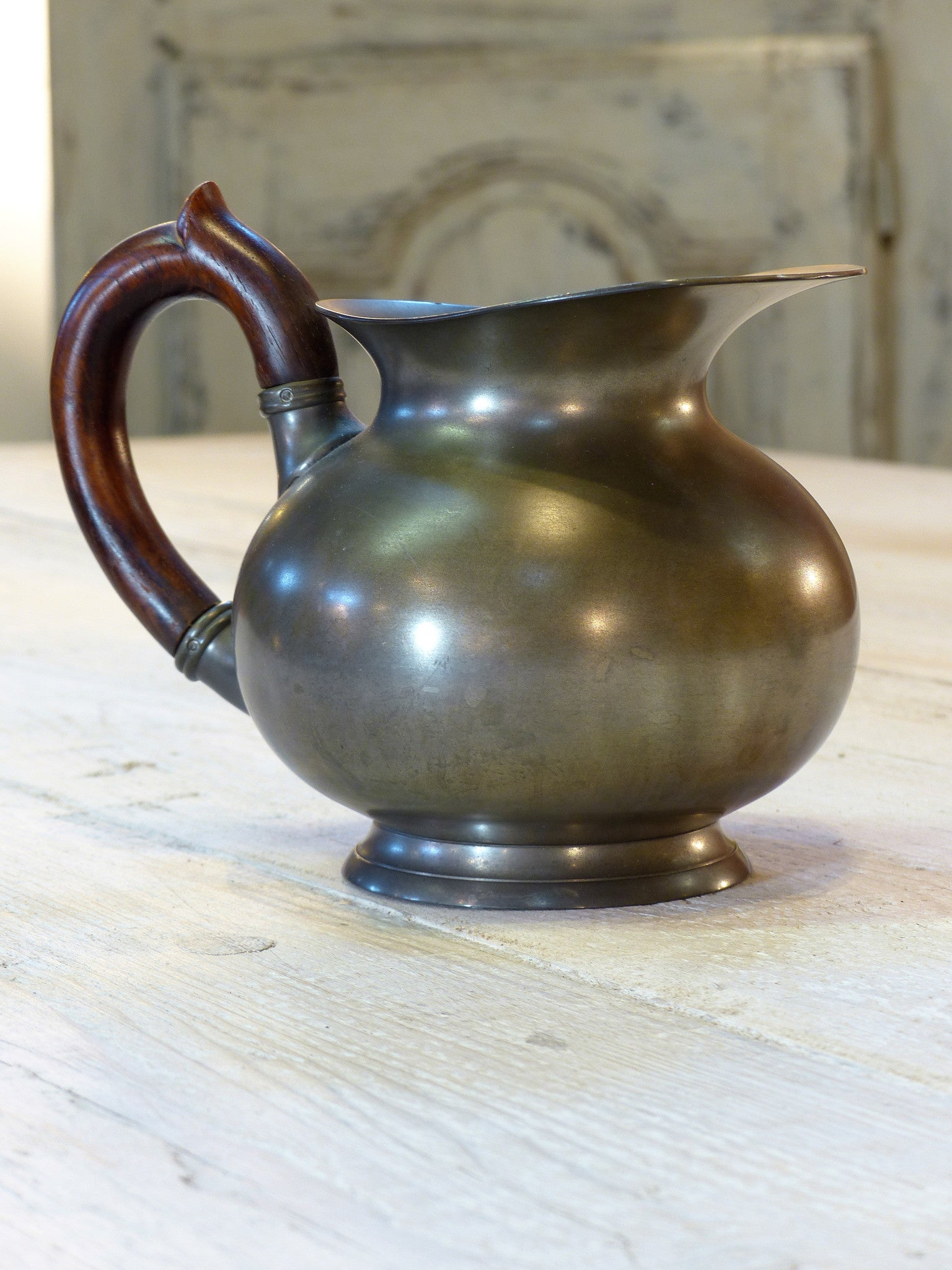 Three French pewter jugs – 1950's