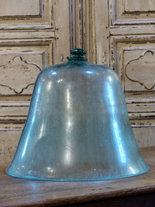 Late 18th century glass garden cloche - bell shaped