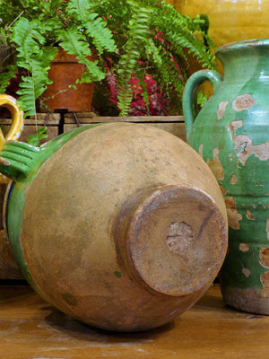 Late 19th century green confit pot - 12¼""