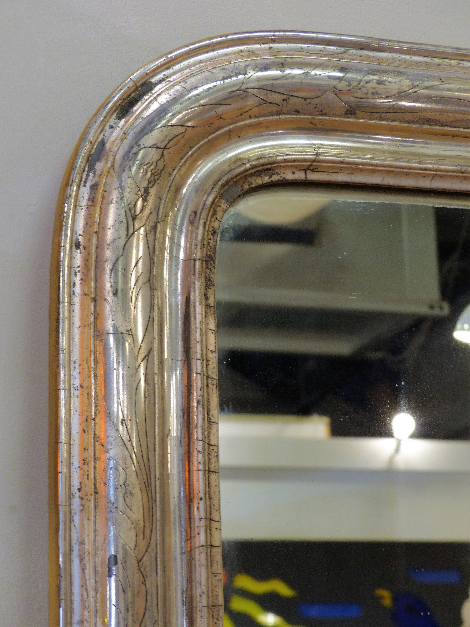 Mid-19th century Louis Philippe mirror - silver