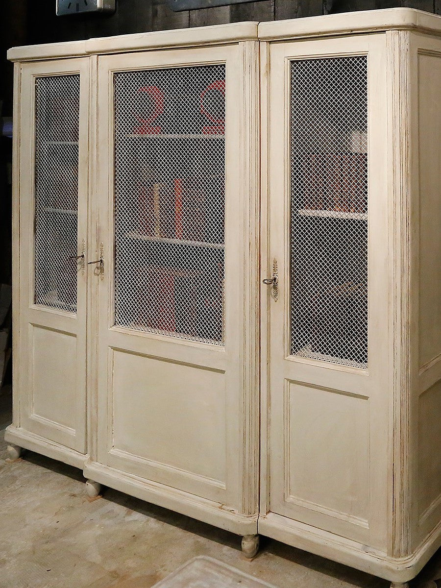French bookcase with original grillwork doors - 1940's