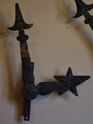 Pair of antique French clock hands