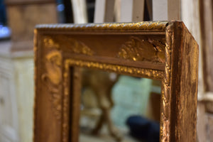 Small early 19th century Empire mirror with deep rectangular frame
