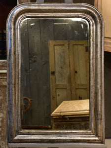 Silver framed Louis Philippe mirror