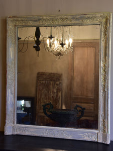 Large antique French Restoration mantle mirror