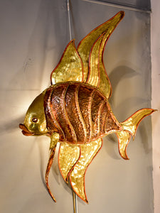 Vintage French fish wall light