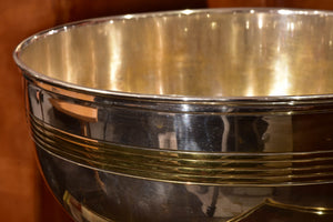 Vintage Champagne bucket with matching dish
