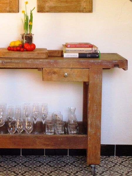 French rustic workbench