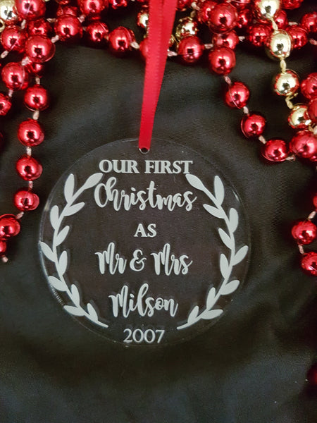Personalised Xmas Decoration