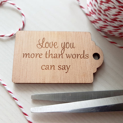 Gift Tag - Love you more