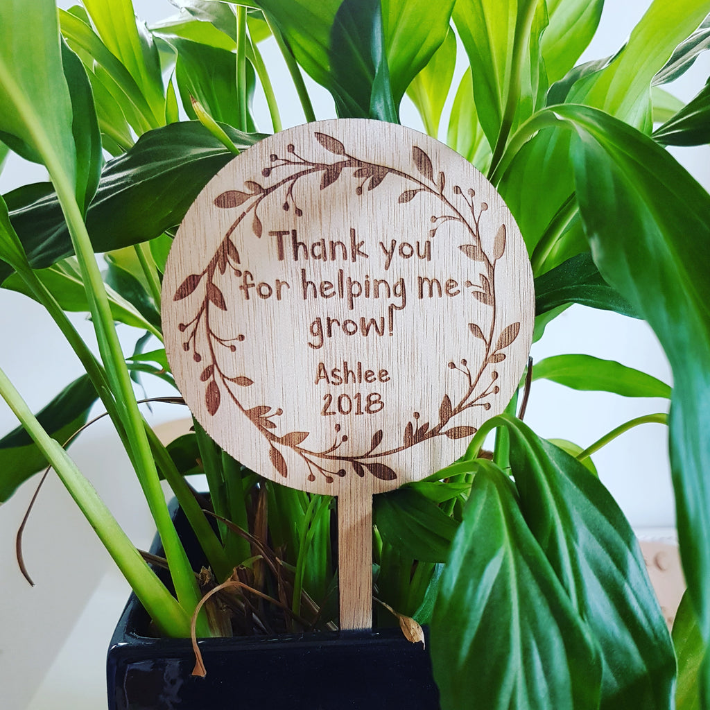 Thank you - Plant marker