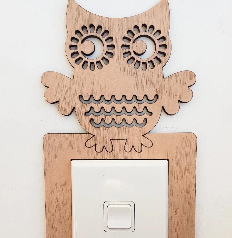 Light Switch Surround - Owl