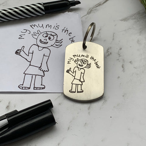 Artwork stainless keyring