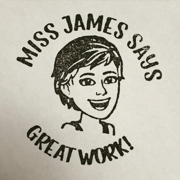 Cartoon Portrait Stamp (Teacher Stamp)
