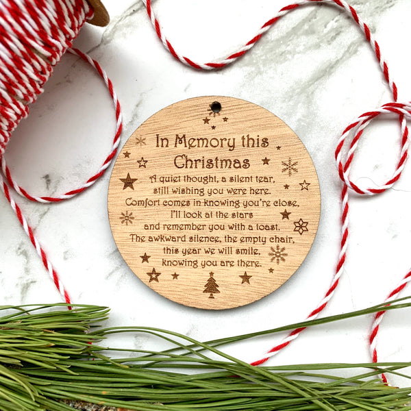 In memory wall hanging