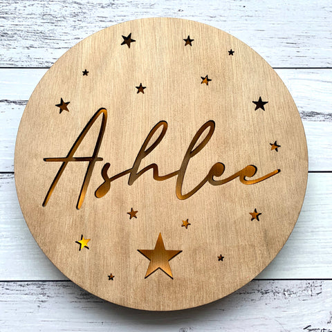 Personalised illuminated wall hanging
